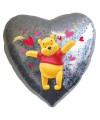 """PALLONCINO WINNIE THE POOH PZ.1 MYLAR CUORE 18"""" CM.45 HOLOGRAPHIC"""