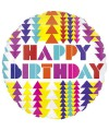 "PALLONCINI HAPPY BIRTHDAY PZ.1 MYLAR TONDO 21"" CM.53 COLORBLAST"