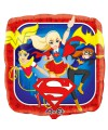 "PALLONCINO DC SUPER HERO GIRL PZ.1 MYLAR QUADRATO 18"" CM.45"