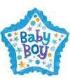 PALLONCINO NASCITA BABY BOY PZ.1 MYLAR SAGOMATO cm.86 x cm.81