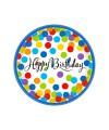 PIATTI HAPPY BIRTHDAY CONFETTI PZ.18 CM.26.6 BIG PACK PC.18