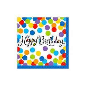TOVAGLIOLI HAPPY BIRTHDAY CONFETTI PZ.36 CM.25X25 BIG PACK PC.36