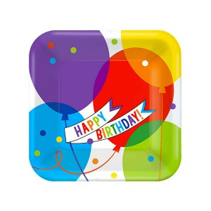 PIATTI HAPPY BIRTHDAY BALLOONS PZ.18 CM.22.8 BIG PACK PC.18