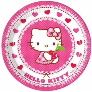 PIATTI HELLO KITTY HEART PZ.8 CM.23