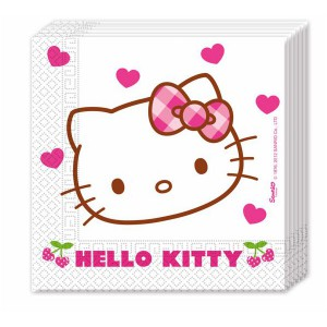 TOVAGLIOLI HELLO KITTY HEART PZ.20 CM.33X33