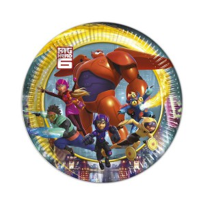 PIATTINI BIG HERO 6 PZ.8 CM.20