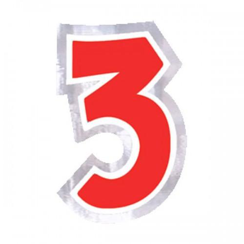 ADESIVO NUMERO 3 PZ.48