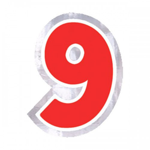 ADESIVO NUMERO 9 PZ.48