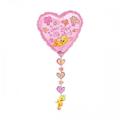 PALLONCINO TITTI LOVE PZ.1 MYLAR CUORE CM.61 X CM.137 DROP-A-LINE