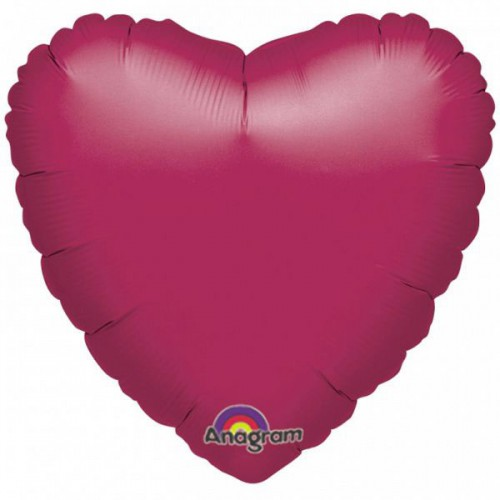 "PALLONCINO CUORE BURGUNDY 18"" PZ.5 MYLAR CUORE 18"" CM.45"