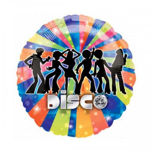 "PALLONCINO DISCO DANCER PZ.1 MYLAR TONDO 18"" CM.45"