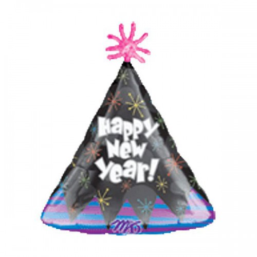 "PALLONCINO NEW YEAR PARTY CAPPELLO PZ.1 MYLAR SAGOMATO 18"" CM.45"
