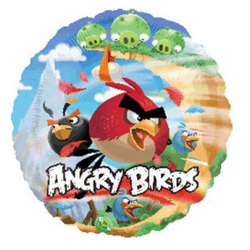 "PALLONCINO ANGRY BIRDS PZ.1 MYLAR TONDO 18"" CM.45"