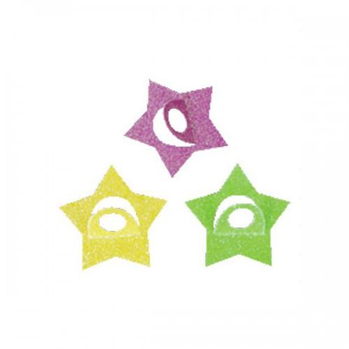 ADESIVI STARS GLITTER  PZ.36