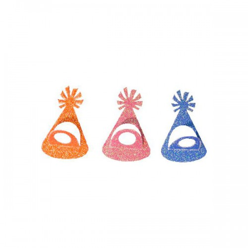 ADESIVI PARTY HAT GLITTER  PZ.36