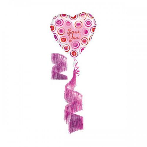 PALLONCINO LOVE YOU HEART PZ.1 MYLAR AIRWALKERS