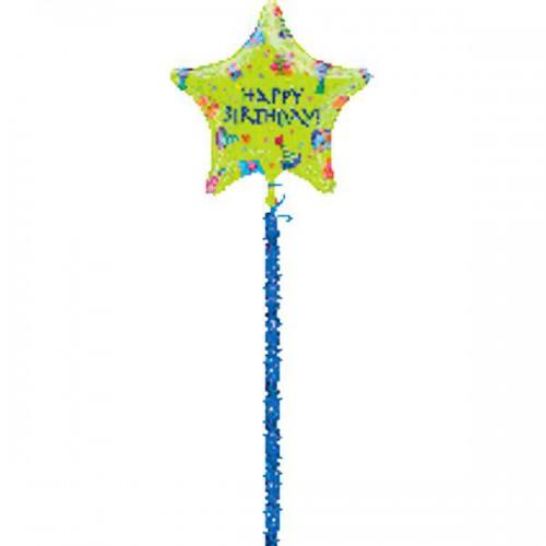 PALLONCINO HAPPY BIRTHDAY ICONS PZ.1 MYLAR AIRWALKERS CM.137