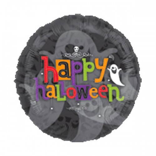 "PALLONCINO HAPPY HALLOWEEN PZ.1 MYLAR TONDO 32"" CM.81 - PANORAMIC"