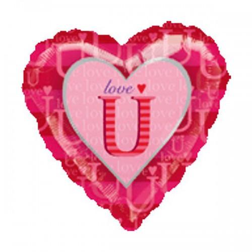 "PALLONCINO LOVE U PZ.1 MYLAR CUORE 18"" CM.45"