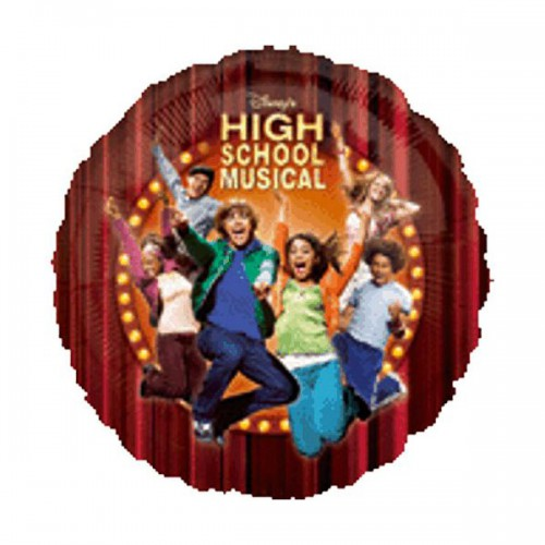 "PALLONCINO HIGH SCHOOL MUSICAL PZ.1 MYLAR TONDO 18"" CM.45"