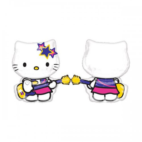 PALLONCINO HELLO KITTY ROCK STAR PZ.1 MYLAR SAGOMATO CM.61 X CM.69