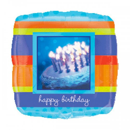 "PALLONCINO PHOTOGRAPHIC BIRTHDAY PZ.1 MYLAR QUADRATO 32"" CM.81"