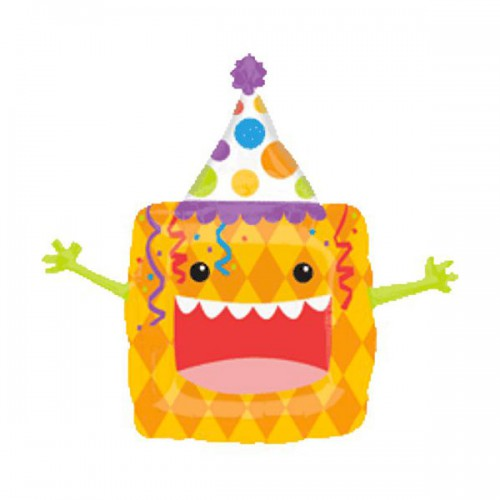 PALLONCINO PARTY ANIMAL CRAZY PZ.1 MYLAR SAGOMATO CM.71 X CM.69
