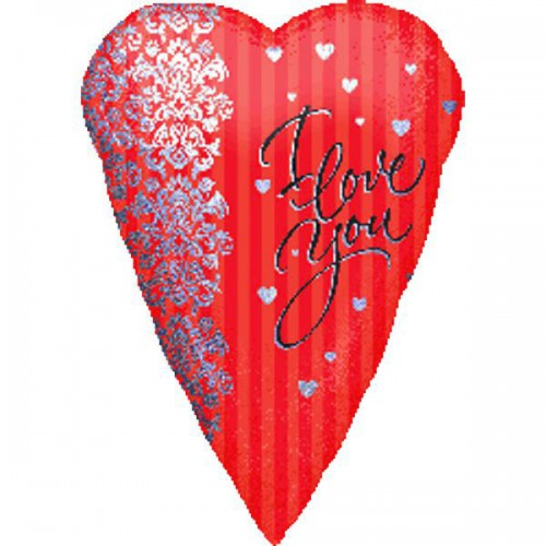 "PALLONCINI I LOVE YOU PZ.1 MYLAR CUORE 18"" CM.45"