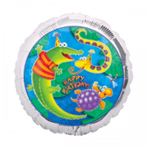 "PALLONCINO LEAP FROG FRIENDS B.DAY PZ.1 MYLAR TONDO 18"" CM.45 PRISMATIC"