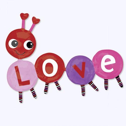 PALLONCINO BRUCO LOVE PZ.1 MYLAR SAGOMATO CM.139 X CM.106 MULTIBALLOON