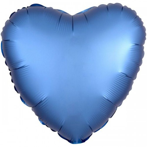PALLONCINO SATIN LUXE AZURE PZ.1 MYLAR CUORE CM.43