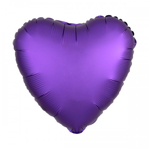 PALLONCINO SATIN LUXE PURPLE ROYALE PZ.1 MYLAR CUORE CM.43