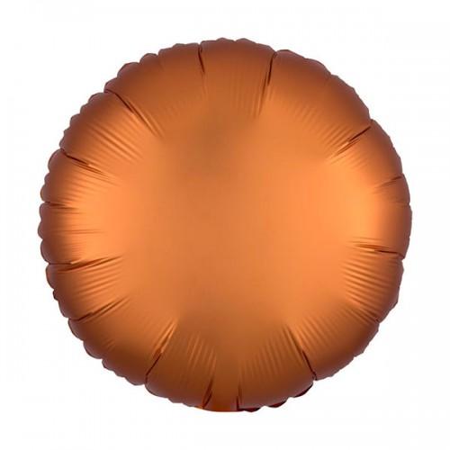 PALLONCINO SATIN LUXE AMBER PZ.1 MYLAR TONDO CM.43