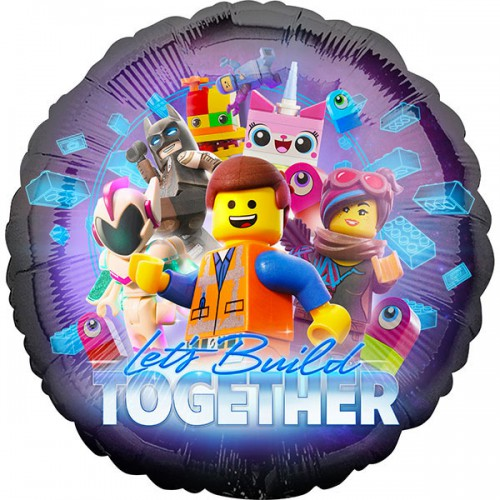 "PALLONCINI LEGO MOVIE 2 PZ.1 MYLAR TONDO 18"" CM.45"