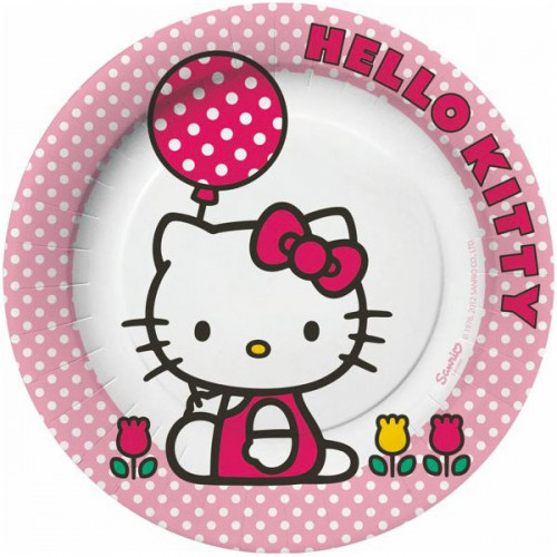 PIATTI HELLO KITTY TULIP PZ.10 CM.23