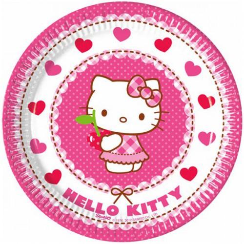 PIATTINI HELLO KITTY HEART PZ.8 CM.20