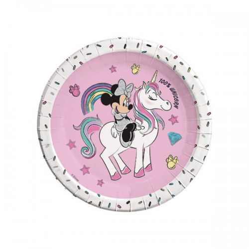 PIATTI MINNIE UNICORN PZ.8 CM.23