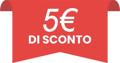 % € di sconto iscrivendoti alla nostra newsletter!
